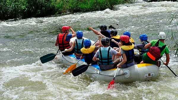 Kayaking and Rafting on the Jordan River